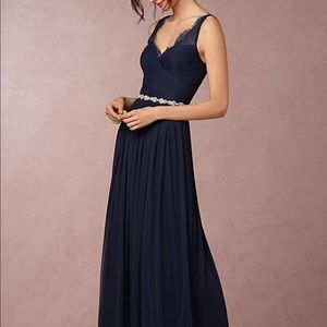 BHLDN Hitherto Fleur Dress Midnight 10